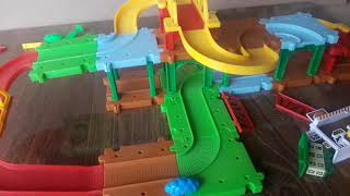 Toy train track making video for children   toys video for children