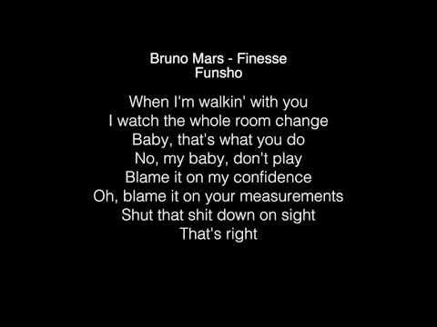 Funsho - Finesse Lyrics (Bruno Mars) The  Voice