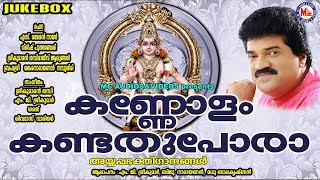 കണ്ണോളം കണ്ടത് പോരാ | Kannolam Kandathu Pora | MG Sreekumar Ayyappa Devotional Songs | Hindu Songs