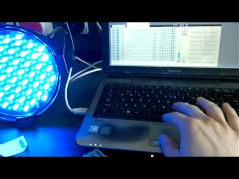 USB to DMX controller testing - YouTube