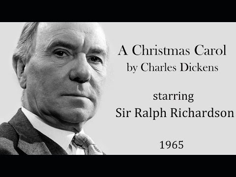 A Christmas Carol by Charles Dickens - Radio drama starring Ralph Richardson  (1965)