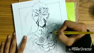 vuclip speed drawing my own manga male character in ready to fight pose