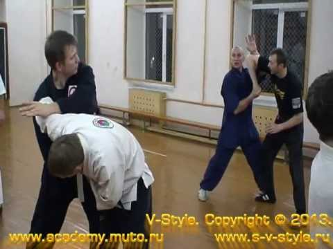 Expert Timofeev the assistant at Romanov's seminar on taichi-chuan Chen