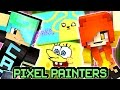 Pixel Painters Colored Cartoon!! - DOLLASTIC PLAYS with GamerChad - Minecraft Mini Game