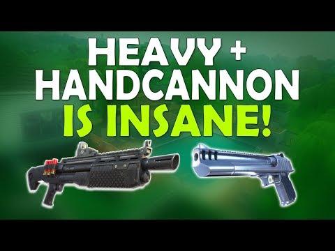 HEAVY SHOTGUN + HAND CANNON IS INSANE! | DEAGLE IS SO FUN - (Fortnite Battle Royale)
