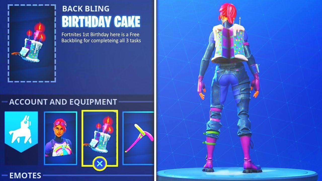 how to unlock new birthday cake backbling secret challenge in fortnite battle royale - cake backpack fortnite