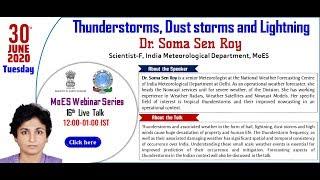 MoES Webinar Series  Dr. Soma Sen Roy, Scientist-F, IMD, MoES