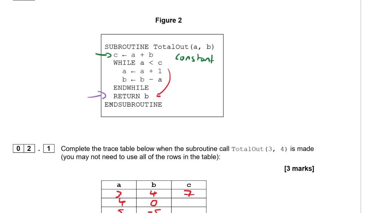 AQA 9-1 GCSE Computer Science Specimen Paper 1 Walkthrough - YouTube