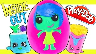 Inside Out Color Change Joy JUMBO Disney Surprise Play Doh Egg Full of SHOPKINS
