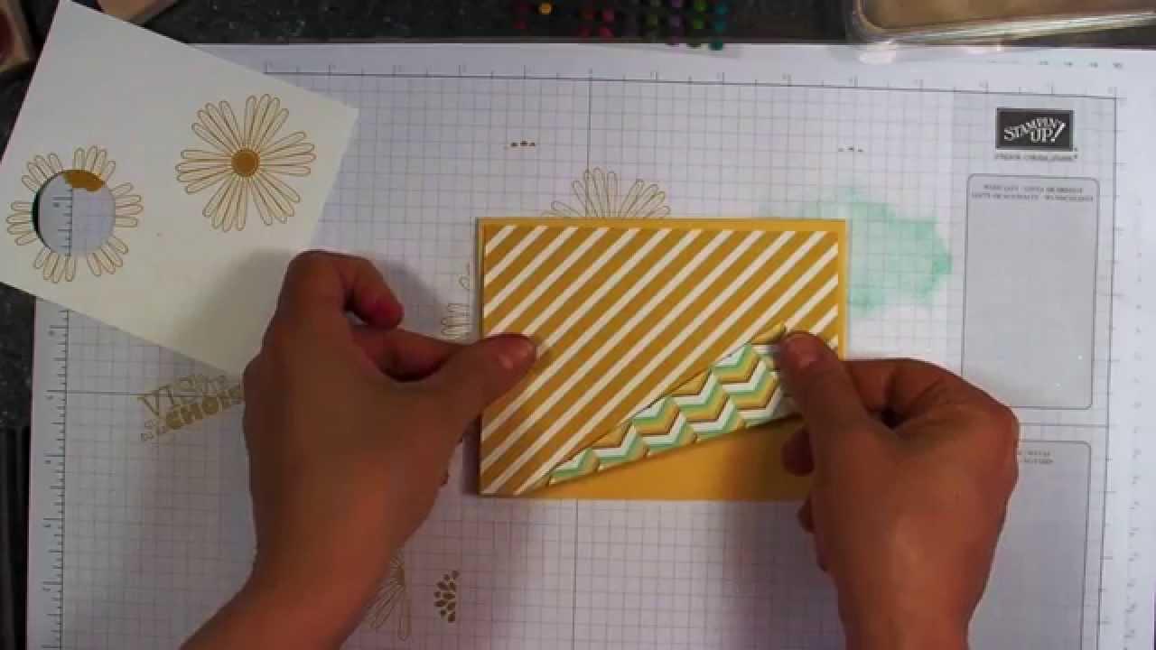 Pliage original carte à ouverture spéciale Stampin Up