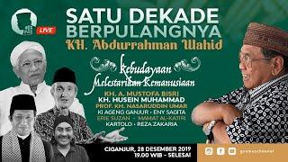 🔴 (LIVE) Satu Dekade Berpulangnya Gus Dur   Ciganjur   28/12/19