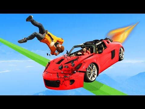 Dodge The Fastest Rocket Car!  GTA 5 Funny Moments