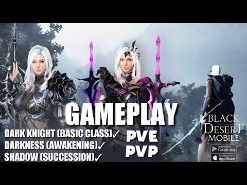 Gameplay Dark Knight, Darkness, Shadow - Black Desert Mobile PVE PVP