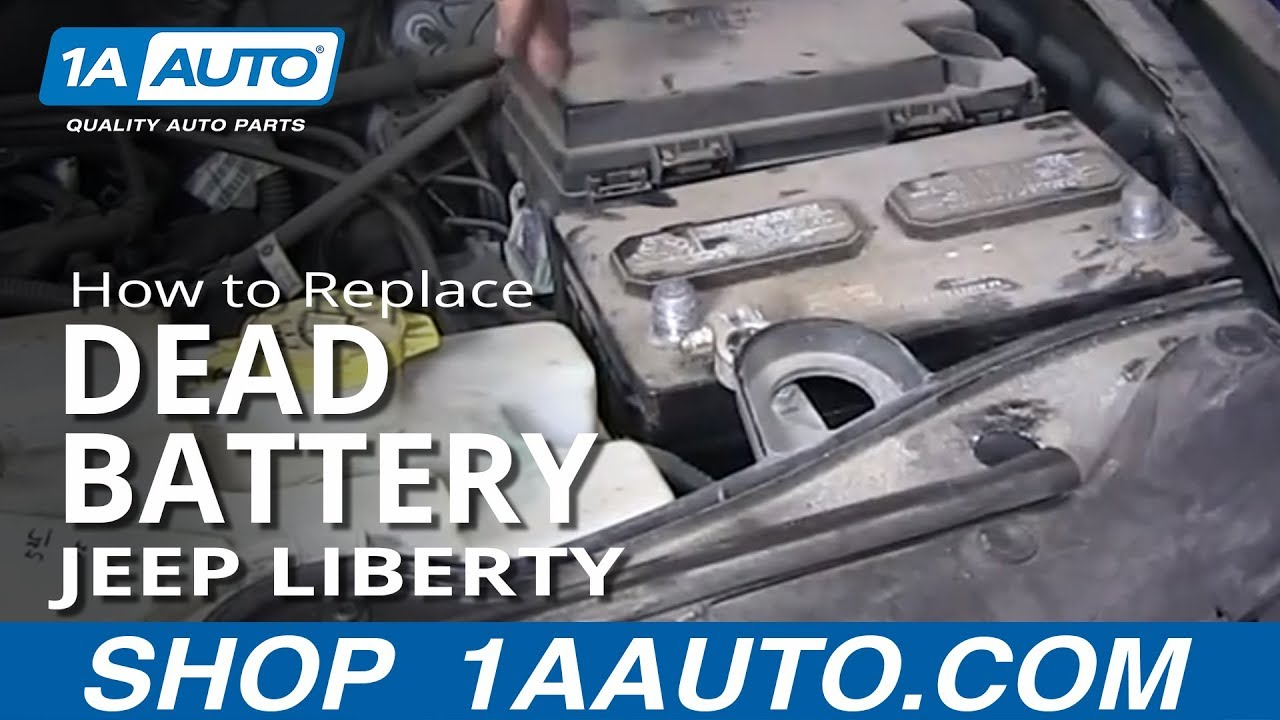 How To Replace Dead Battery 02 12 Jeep Liberty