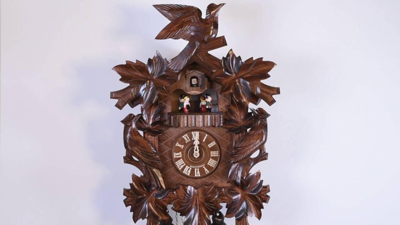 Original Schwarzwälder Kuckucksuhr 14-40-112 - YouTube