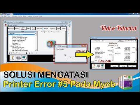 Myob : Solusi Mengatasi Printer Error #5