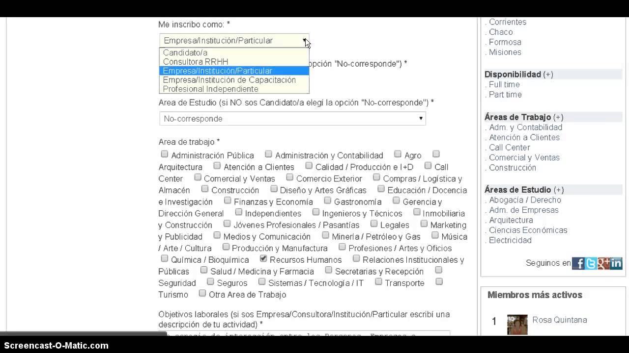 Cómo completar tu perfil profesional en Trabajo en el NEA - YouTube