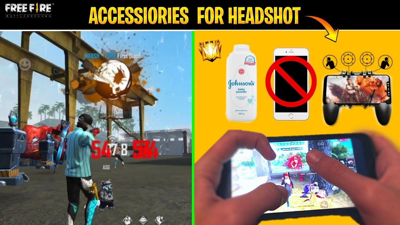 Secrets Must Have Headshot Accessories - Top 5 Accessories for Onetap - Garena Free Fire