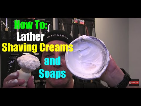 How To Mix & Apply Shaving Cream & Shave Soap Lather