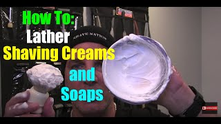 How To Mix & Apply Shaving Cream & Shave Soap Lather Tutorial Geofatboy ShaveNation.com Brush Bowl