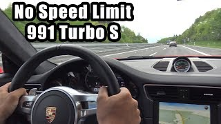 780HP Porsche 991 Turbo S PP-Performance - Autobahn, Revs, Accelerations!