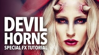 Awesome devil horns fx makeup tutorial