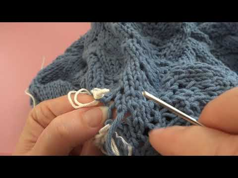 Взрослый пуловер:зашиваем подрезы.