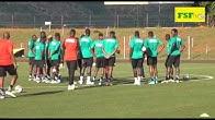 Premier galop d'entraînement des Lions à Lobamba