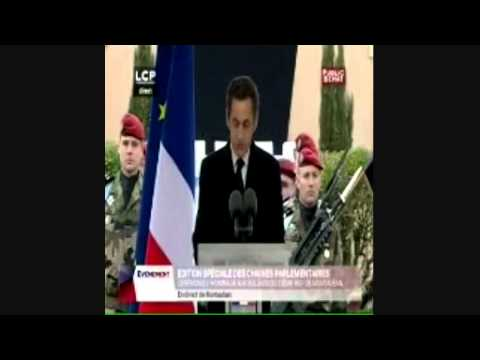 Guard removed during President Sarkozy speech
