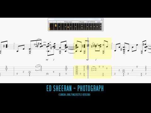 Ed Sheeran - Photograph Fingerstyle Guitar Tab (Sungha Jung)