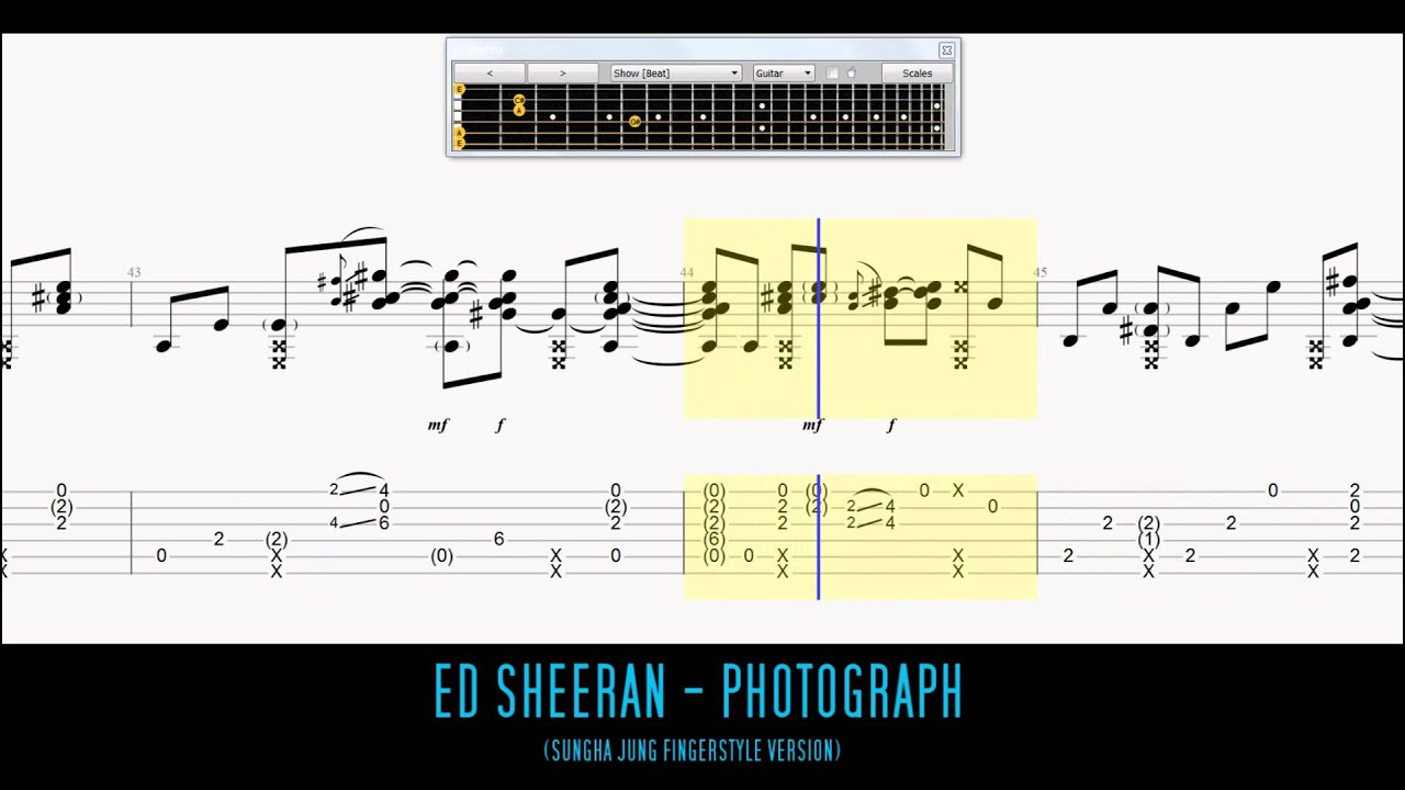 Ed Sheeran - Photograph Fingerstyle Guitar Tab (Sungha Jung) - YouTube
