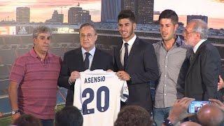 El Real Madrid presenta a Asensio en el Bernabéu