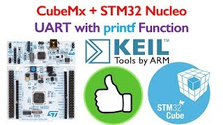 STM32 Nucleo Tutorial 4- UART printf Coding in Keil using STM32CubeMx