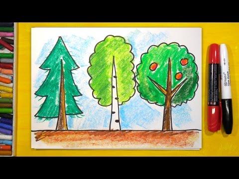 Как нарисовать дерево простое