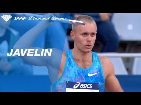 Jakub Vadlejch throws 88.02 for 2nd place in the Men's Javelin - IAAF Diamond League Paris 2017