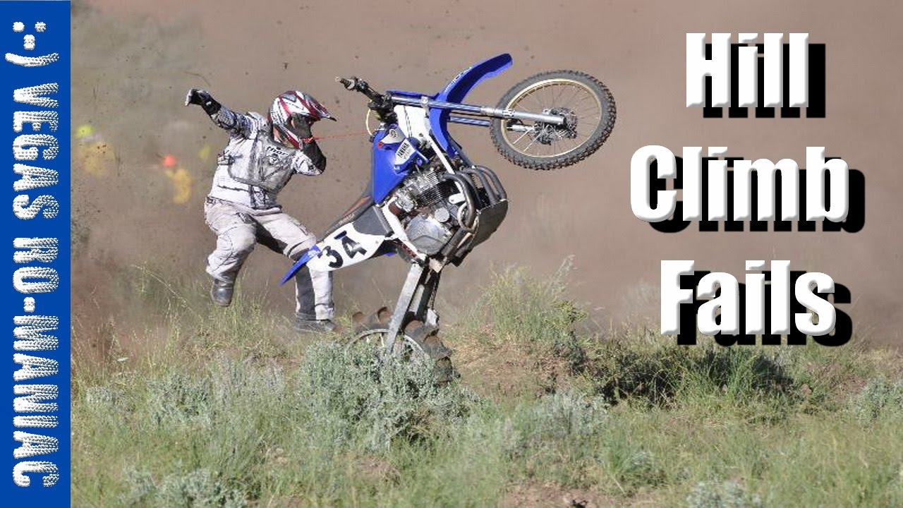 Hill Climbs fails on Dirt Bike - YouTube