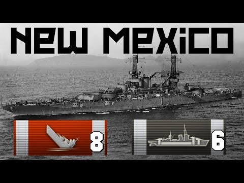 New Mexico 8 frags || World of Warships