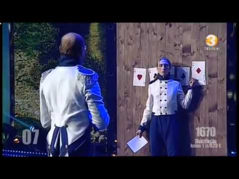 Lithuania`s got talent crazy knife thrower