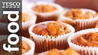 How To Make Spiced Pear And Apple Muffins   Tesco Food