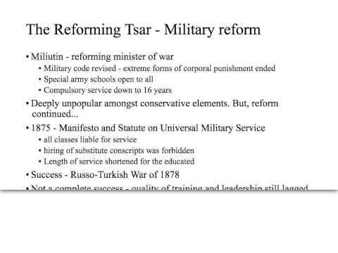 Tsar Alexander II reforms