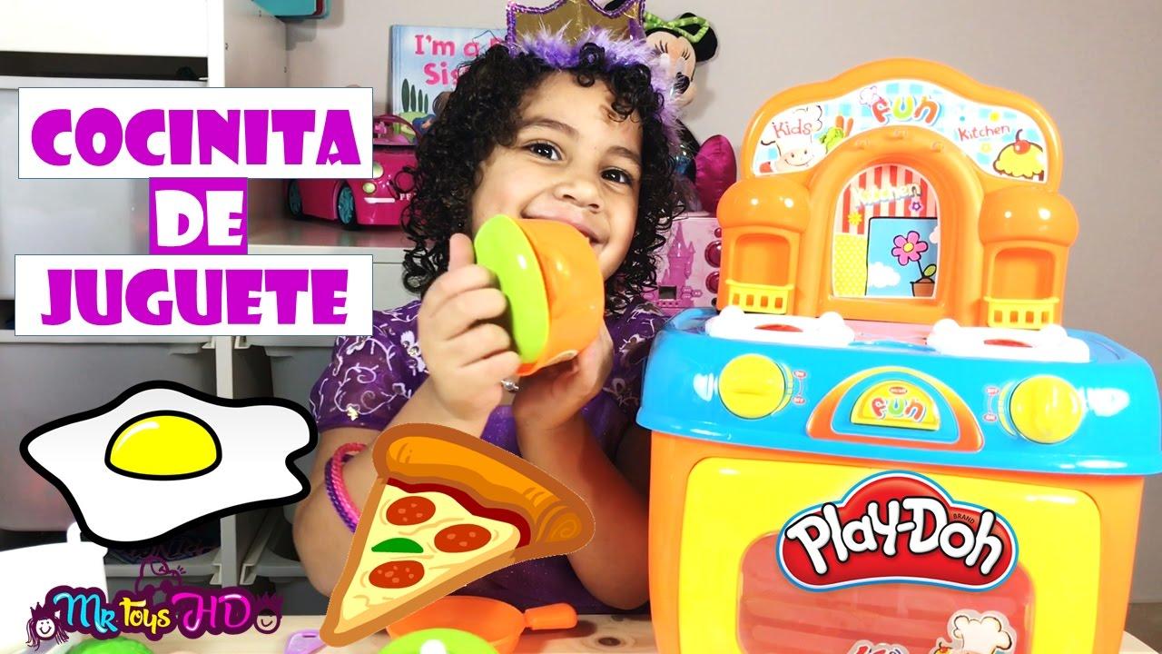 La cocinita de juguete juguetes de cocina kitchen playset comida de play doh pizza huevo - Cocina play doh ...
