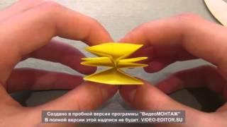 Традиционное оригами. Цветок ириса.(В этом видео я покажу как собирать традиционную модель оригами-цветок ириса! Ссылка на группу в вк http://vk.com/clu..., 2014-04-28T18:20:33.000Z)