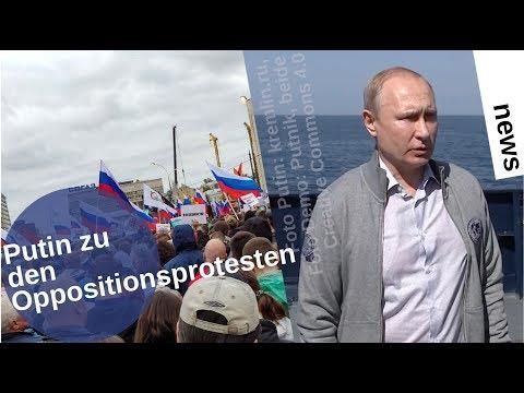 Putin zu den Oppositionsdemos in Moskau