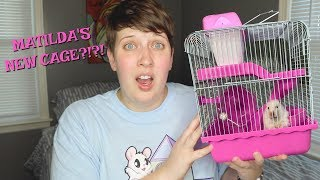 PUTTING MY HAMSTER IN THE SMALLEST CAGE EVER