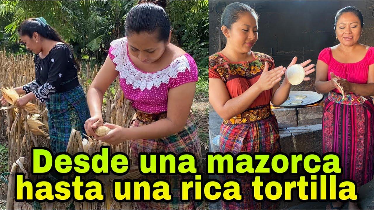 Detrás de cada tortilla está el trabajo de la gente de campo/ Nixtamal de maíz nuevo.