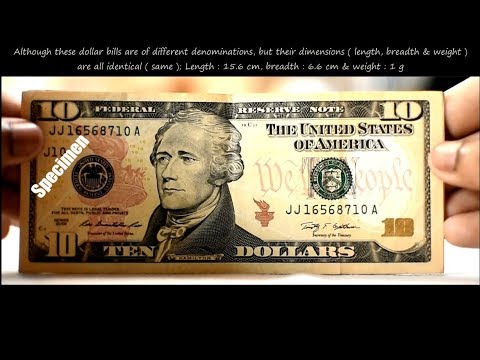 United States New Ten Dollar ( $10 ) Bill Features & Security