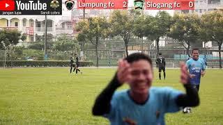 Hujan goll [[Lampung fc vs Siogang fc    Taiwan Indonesia Soccer language 2019  hujan goalll