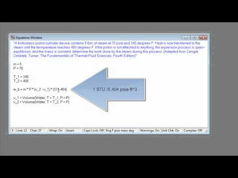 EES Tutorial Part 2: Properties and Parametric Tables