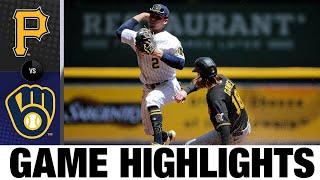 Pirates vs. Brewers Game Highlights (6/13/21)   MLB Highlights