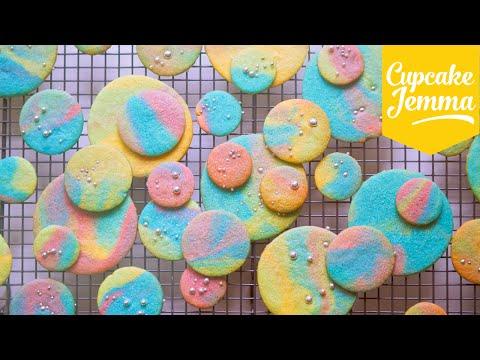 Make Psychadelic Rainbow Marble Cookies   Cupcake Jemma Snapshots